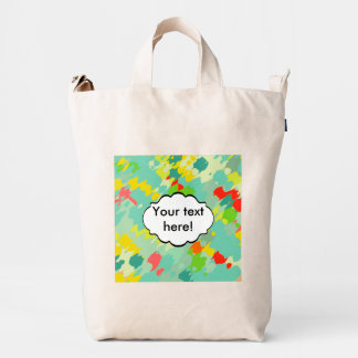 Smudged shapes abstract design duck bag