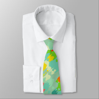 Smudged shapes abstract design necktie