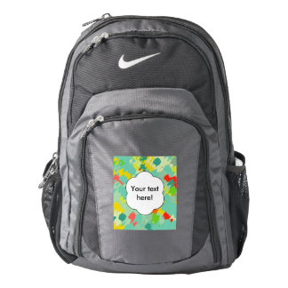 Smudged shapes abstract design nike backpack