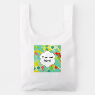 Smudged shapes abstract design reusable bag