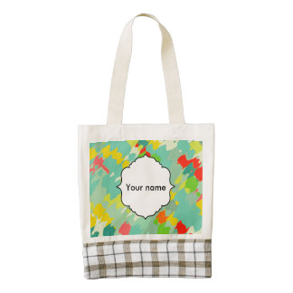 Smudged shapes abstract design zazzle HEART tote bag