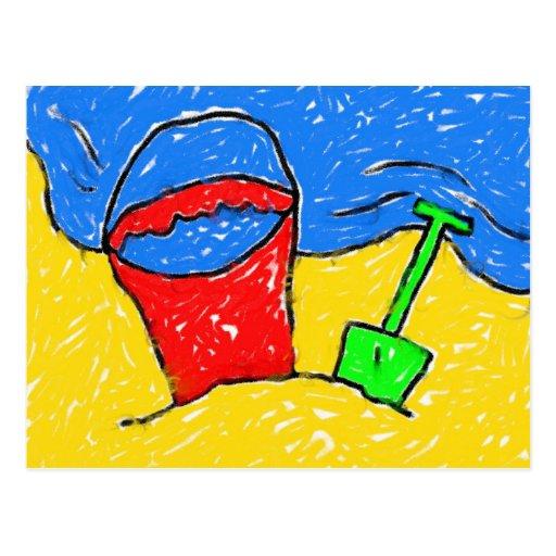 Smudgy Beach Postcard