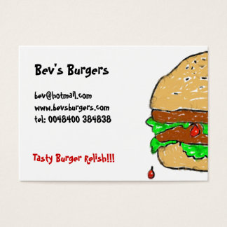 Smudgy Burger Business Cards