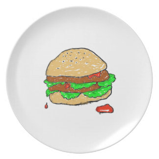 Smudgy Burger Plate