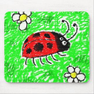 Smudgy Ladybug Mouse Pad