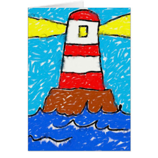Smudgy Lighthouse Card