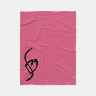 Smuffin Smut Mark Fleece Blanket Hot Pink