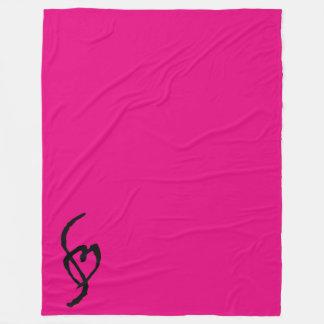 Smuffin Smut Mark Fleece Blanket HOT Pink LARGE