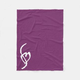Smuffin Smut Mark Fleece Blanket Purple