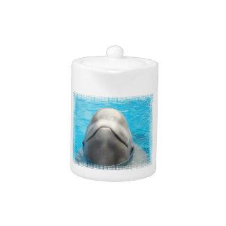 Smug Beluga Whale Teapot