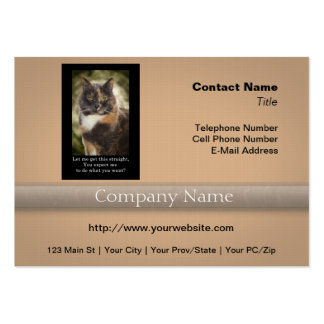 Smug Kitty - Do What You Want? Business Card Template