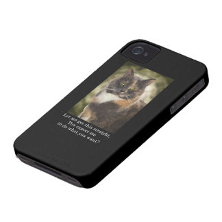 Smug Kitty - Do What You Want? Case-Mate iPhone 4 Case