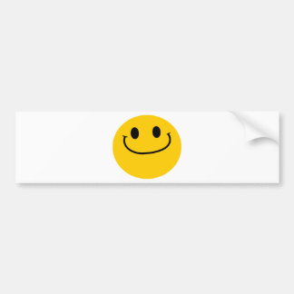 Smug smiley bumper sticker