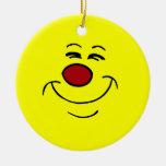 Smug Smiley Face Grumpey Christmas Ornament