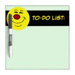 Smug Smiley Face Grumpey Dry-Erase Boards