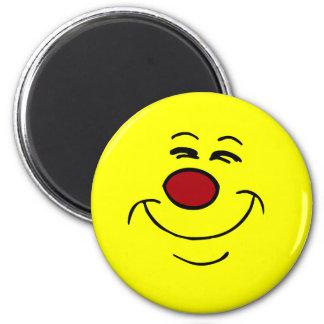 Smug Smiley Face Grumpey Magnet