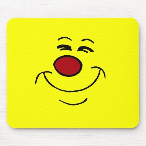 Smug Smiley Face Grumpey Mouse Pads