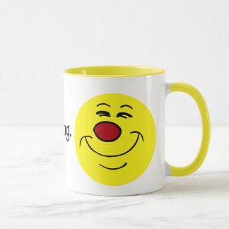 Smug Smiley Face Grumpey Mug