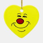 Smug Smiley Face Grumpey Ornament