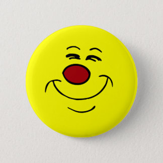 Smug Smiley Face Grumpey Pinback Button