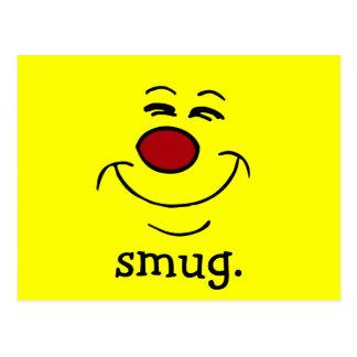 Smug Smiley Face Grumpey Postcard