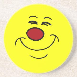 Smug Smiley Face Grumpey Sandstone Coaster