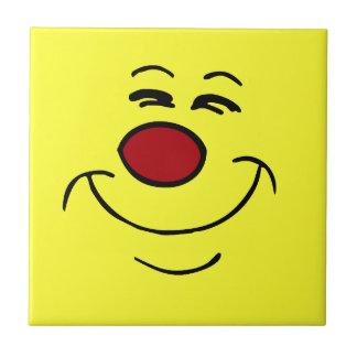 Smug Smiley Face Grumpey Tile