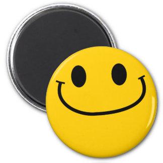 Smug smiley refrigerator magnet