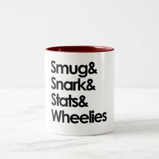 Smug.Snark.Stats.Wheelies Taza De Dos Tonos