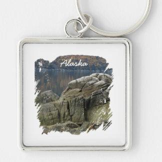 Smuggler's Cove Shoreline; Alaska Souvenir Keychain