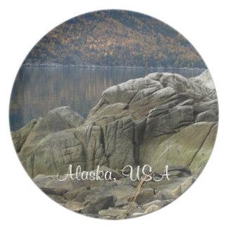 Smuggler's Cove Shoreline; Alaska Souvenir Plate