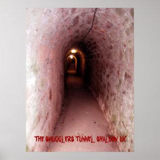 Smugglers tunnel, Shaldon - poster