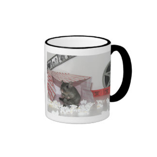 Smurf the Gerbil Goes to the Movies Ringer Coffee Mug