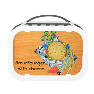 Smurfburger With Cheese Lunch Box