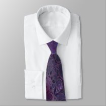"""Smushed Grapes"" Abstract Tie"