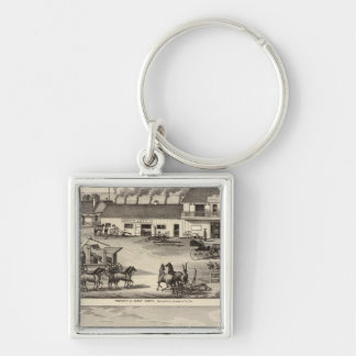 Smyth, Adams properties Silver-Colored Square Keychain
