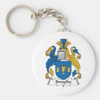Smythe Family Crest Basic Round Button Keychain