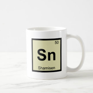 Sn - Shamisen Music Chemistry Periodic Table Classic White Coffee Mug