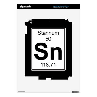 Sn - Stannum Calcomanías Para El iPad 2