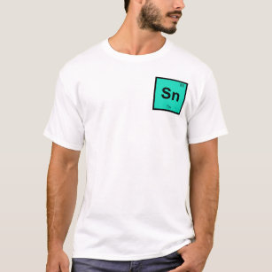 Tin sn gifts on zazzle sn tin chemistry periodic table symbol element t shirt urtaz Image collections