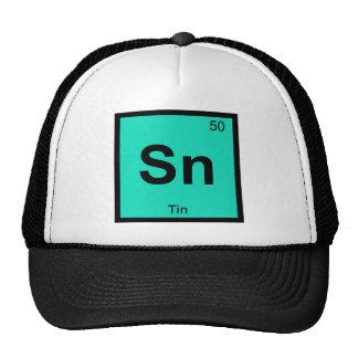 Sn - Tin Chemistry Periodic Table Symbol Element Trucker Hat