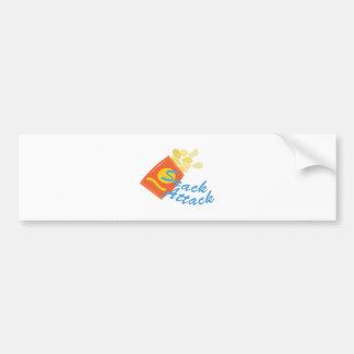 Snack Attack Bumper Sticker