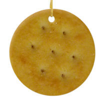 Snack Cracker Ceramic Ornament