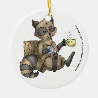 Snack-en Raccoon Christmas Ornament