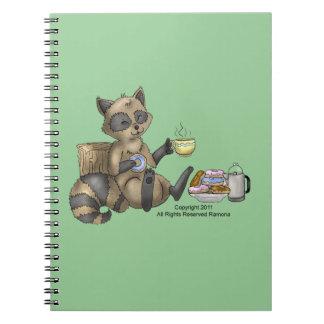 Snack-en Raccoon Notebook