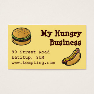 Snack food business card