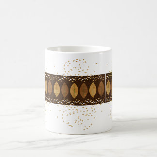 Snack-inducing Mocha and Hazelnut themed Leaves Mug