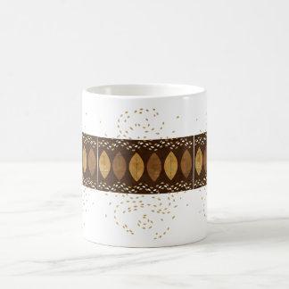 Snack-inducing Mocha and Hazelnut themed Leaves Classic White Coffee Mug