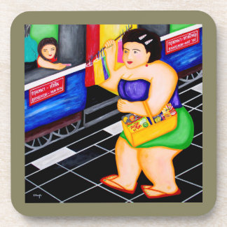"""""""Snack Lady"""" Coasters For Favorite Beverages"""