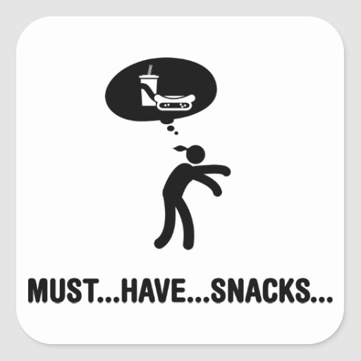 Snack Lover Square Sticker